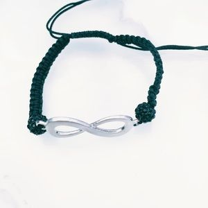 Jewelry - Black and Silver Adjustable Infinity Bracelet